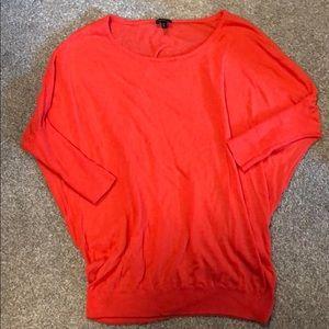 Express oversized Orange Of the Shoulder Sweater